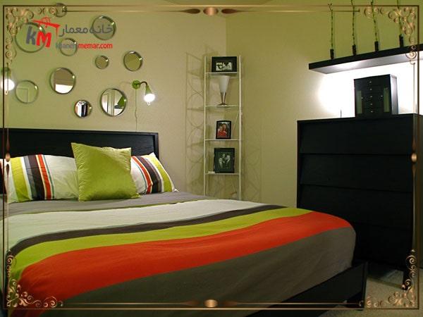 استفاده از رنگ سبز در دکوراسیون اتاق خواب