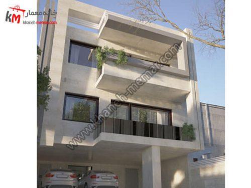 نمای ساختمان دوبلکس سه طبقه پروژه 1041
