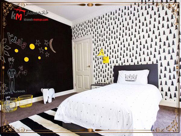 ایجاد دیوار خلاقیت روی یکی از دیوارهای اتاق کودک دختر