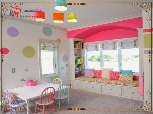 تزیین فضای اتاق با کاغذ رنگی و مقوا
