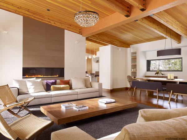 دکور زیبای چوبی برای سالن پذیرایی