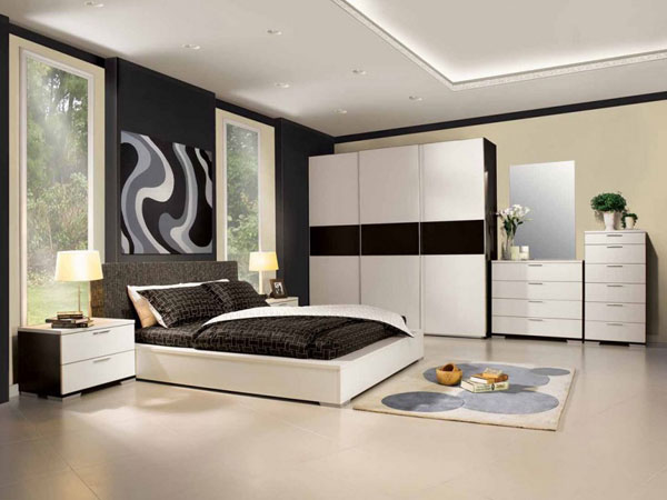 طراحی دیوار متناسب با دکور داخلی اتاق خواب