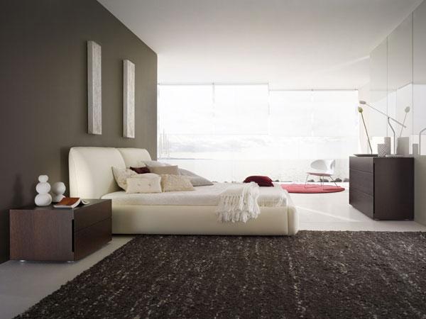 چیدمان فرش در یک طرف سرویس خواب